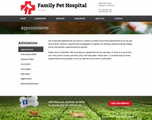 Family Pet Hospital | Appointments