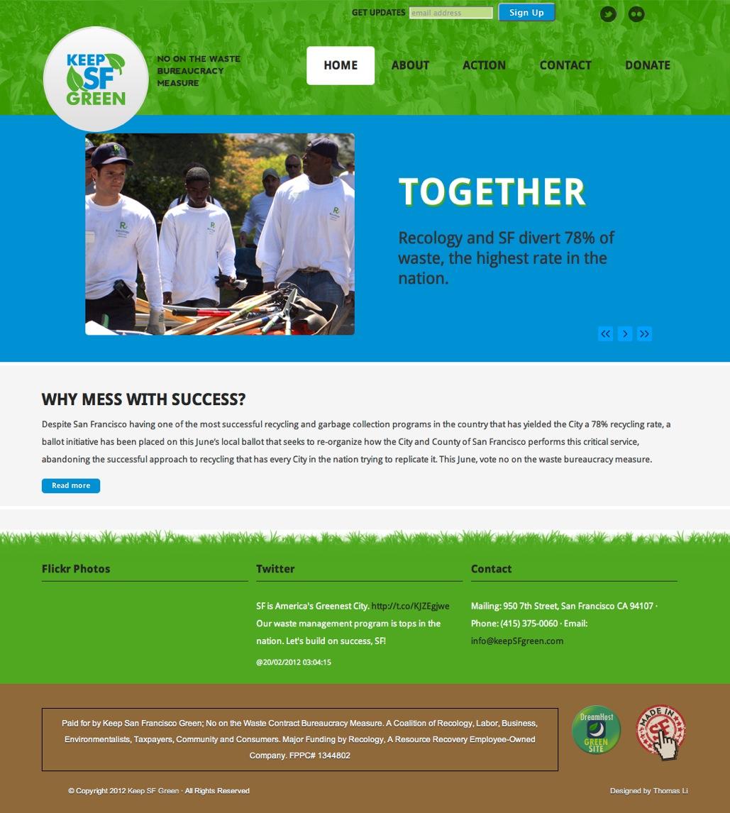 Keep SF Green | Thomas Li Web Design, Made in San Francisco