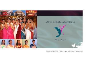 Welcome to the Official Miss Asian America Pageant Website1