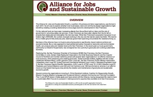 Alliance for Jobs and Sustainable Growth - OVERVIEW