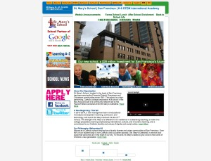 St. Mary's School old website