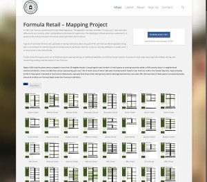 Formula Retail Mapping Project | San Francisco Streets
